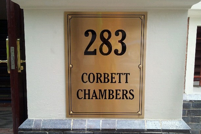 Wolf_Signs_Engraving_Brass_Plaque_Corbett_Chambers_2