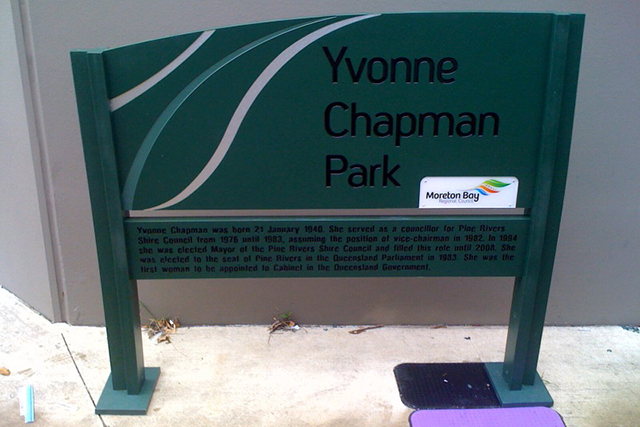 Wolf_Signs_Engraving_Recycled_Plastic_Yvonne_Chapman_Park
