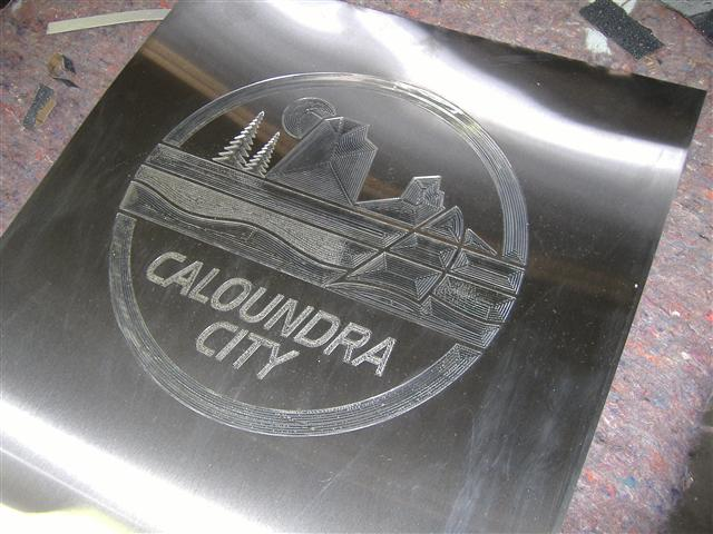 Wolf_Signs_Engraving_Stainless_Steel_Caloundra_Council_Logo_A